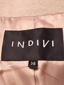 インディビ INDIVI コート サイズ38 M レディース 美品 ベージュ【中古】