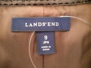 ランズエンド LANDS'END ジャケット サイズ9 M レディース 美品 ダークブラウン【中古】