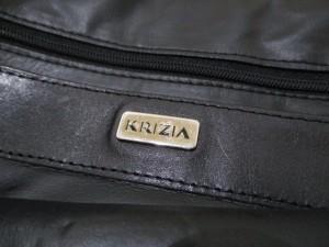 クリッツィア KRIZIA ビジネスバッグ レディース 黒 編み込み レザー【中古】