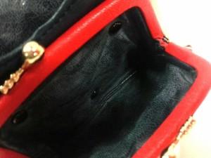 キタムラ KITAMURA コインケース レディース ダークネイビー×白 がま口 レザー【中古】