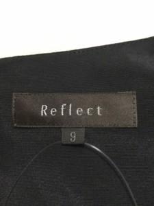 リフレクト ReFLEcT ワンピース サイズ9 M レディース 黒×白×マルチ【中古】