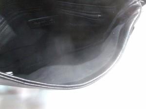 アニエスベー agnes b ショルダーバッグ レディース 黒 レザー×化学繊維【中古】