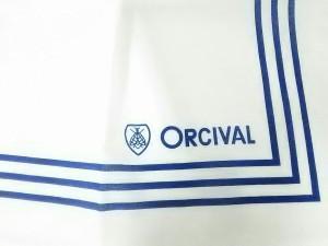 オーシバル ORCIVAL ハンカチ レディース 新品同様 白×ブルー【中古】