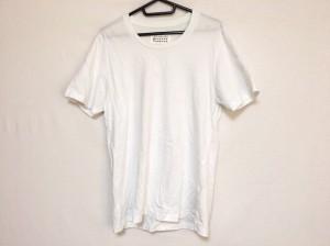【中古】 レディース (マルタンマルジェラ) 黒×白 サイズXS ノースリーブTシャツ MARTIN MARGIELA