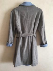 リフレクト ReFLEcT コート サイズ11 M レディース 美品 グレー×ライトブルー 冬物【中古】