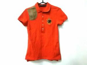 675012bae216d ポロラルフローレン POLObyRalphLauren 半袖ポロシャツ サイズS レディース オレンジ×ベージュ 中古