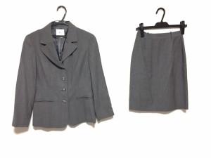 クミキョク 組曲 KUMIKYOKU スカートスーツ レディース グレー【中古】
