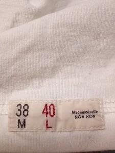 マドモアゼルノンノン Mademoiselle NON NON 七分袖Tシャツ サイズ40 L レディース アイボリー×レッド【中古】