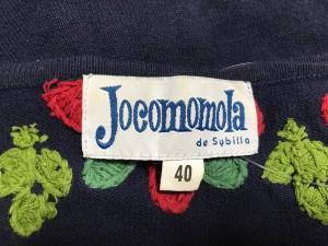 ホコモモラ JOCOMOMOLA カーディガン サイズ40 XL レディース ダークネイビー×レッド×ライトグリーン【中古】