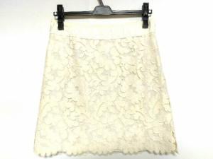 アドーア ADORE スカート サイズ36 S レディース 美品 アイボリー レース/フラワー/ラメ【中古】