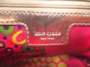 ケイトスペード トートバッグ レディース PXRU0802 ピンク×ゴールド×ダークブラウン かごバッグ ストロー×レザー【中古】