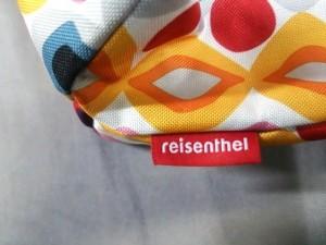 ライゼンタール reisenthel トートバッグ レディース オレンジ×白×マルチ キャンバス【中古】