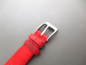 フォリフォリ FolliFollie 腕時計 - レディース 革ベルト/型押し加工 白【中古】