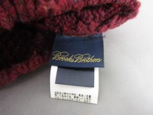 ブルックスブラザーズ BrooksBrothers ニット帽 レディース ボルドー×マルチ ウール×ナイロン【中古】