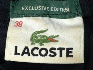 ラコステ Lacoste スカート サイズ38 M レディース ダークネイビー×アイボリー プリーツ【中古】