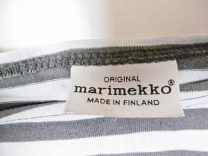 マリメッコ marimekko 七分袖Tシャツ レディース ライトブルー×ダークグレー ボーダー【中古】