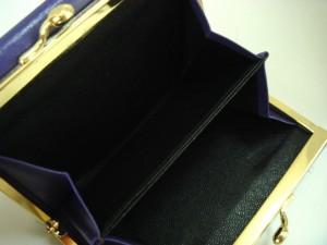 ティファニー TIFFANY&Co. 3つ折り財布 レディース パープル がま口 レザー【中古】