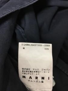 マルニ MARNI ワンピース サイズ38 S レディース ダークネイビー フリル/SUMMER EDITION 2012【中古】