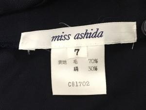 ミスアシダ miss ashida 長袖シャツブラウス サイズ7 S レディース ネイビー【中古】