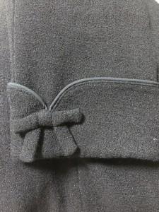 ギャラリービスコンティ GALLERYVISCONTI ワンピーススーツ サイズ9 M レディース 美品 ネイビー リボン【中古】