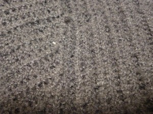 ルシェルブルー LE CIEL BLEU 長袖セーター サイズF レディース 黒 変形デザイン/シースルー【中古】