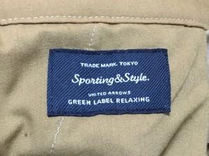 グリーンレーベルリラクシング green label relaxing パンツ サイズ38 M レディース ブラウン コーデュロイ【中古】