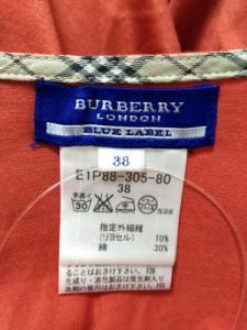 バーバリーブルーレーベル Burberry Blue Label カットソー サイズ38 M レディース 美品 レッド×白×ダークグレー ボーダー【中古】