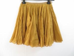 ロイスクレヨン Lois CRAYON スカート サイズM レディース 美品 ブラウン×シルバー プリーツ/フレアースカート/ラメ【中古】