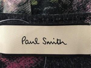 ポールスミス PaulSmith ワンピース サイズM レディース 黒×マルチ フラワー/リボン【中古】