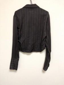 ワイズ Y's 長袖シャツブラウス サイズ3 L レディース 美品 黒×レッド ストライプ/ショート丈【中古】