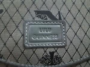 ルルギネス LULUGUINNESS 2つ折り財布 レディース 美品 グレー×黒 ナイロンジャガード×レザー【中古】