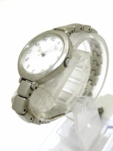 アニエスベー agnes b 腕時計 1N01-0DND レディース シルバー【中古】