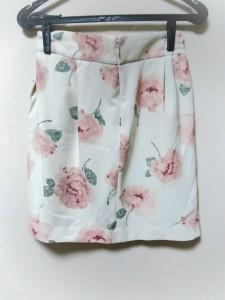 リランドチュール Rirandture スカート サイズ2 M レディース 美品 アイボリー×ピンク×グレー 花柄【中古】