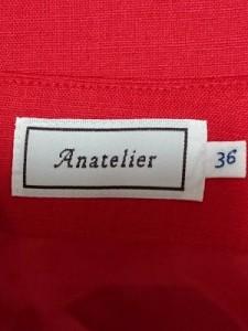 アナトリエ anatelier ショートパンツ サイズ36 S レディース レッド リボン【中古】