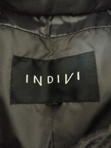インディビ INDIVI ダウンコート サイズ38 M レディース ダークグレー フード取り外し可/冬物【中古】