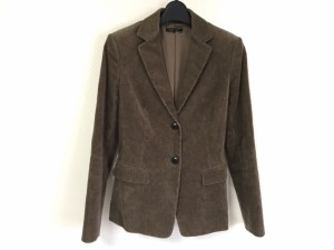 デュアルヴュー DUAL VIEW ジャケット サイズ40 M レディース 新品同様 ブラウン 肩パッド【中古】
