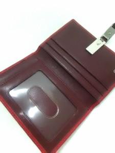 コーチ COACH カードケース レディース - レッド レザー【中古】