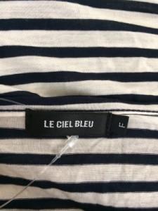 ルシェルブルー LE CIEL BLEU 半袖カットソー サイズLL レディース 美品 アイボリー×ネイビー ボーダー【中古】