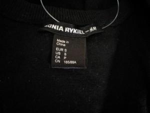 ソニアリキエル SONIARYKIEL 長袖セーター サイズS レディース 黒×アイボリー ラインストーン/H&Mコラボ【中古】