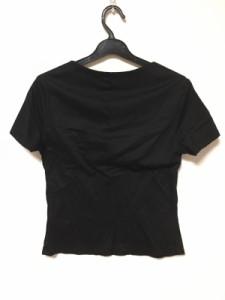シビラ Sybilla 半袖Tシャツ サイズL レディース 美品 黒 プリーツ【中古】