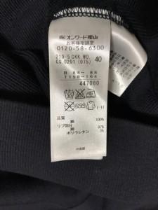 ニジュウサンク 23区 トレーナー サイズ40 M レディース ダークネイビー ×A-GIRL'S/ビジュー【中古】