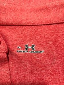アンダーアーマー UNDER ARMOUR 半袖ポロシャツ サイズXL メンズ ピンク×レッド【中古】