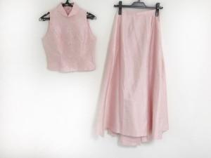 コーガマリコ MARIKO KOHGA スカートセットアップ サイズ38 M レディース ピンク×白×マルチ 花柄【中古】