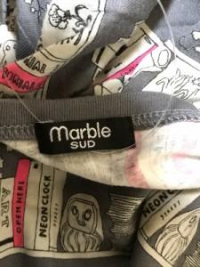 マーブルシュッド marble SUD ワンピース レディース 美品 ダークグレー×アイボリー×ピンク【中古】
