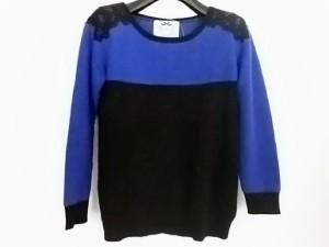 リランドチュール Rirandture 長袖セーター サイズ2 M レディース 黒×ブルー レース【中古】