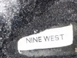 ナインウエスト NINE WEST ショートブーツ レディース 美品 黒 ムートン【中古】