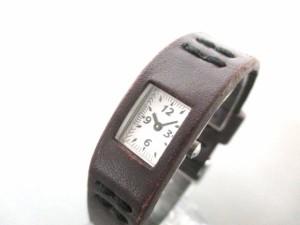 ズッカ ZUCCA 腕時計 FEV2AB レディース CABANEdeZUCCA/革ベルト 白【中古】