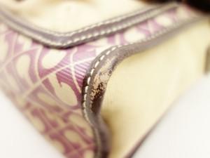 ゲラルディーニ ショルダーバッグ レディース ボルドー×ベージュ×ダークブラウン PVC(塩化ビニール)×キャンバス×レザー【中古】