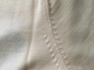 ミエコウエサコ MIEKO UESAKO 半袖セーター サイズ40 M レディース 美品 アイボリー×黒×マルチ jeans/ハイネック/スカル【中古】