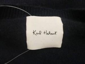 カールヘルム KarlHelmut 長袖セーター メンズ ダークネイビー×白【中古】